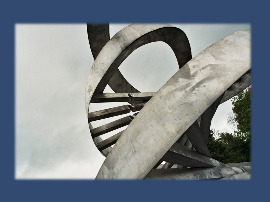 DNA Spiral in Charles Jencks' 'Garden of Cosmic Speculation', Portrack House, near Dumfries (image used under a Creative Commons licence from https://www.flickr.com/photos/supergolden/149376391)